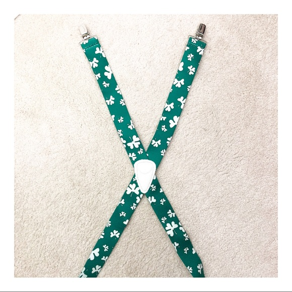 """St Patrick's Day Suspenders 48"""" or Large"""